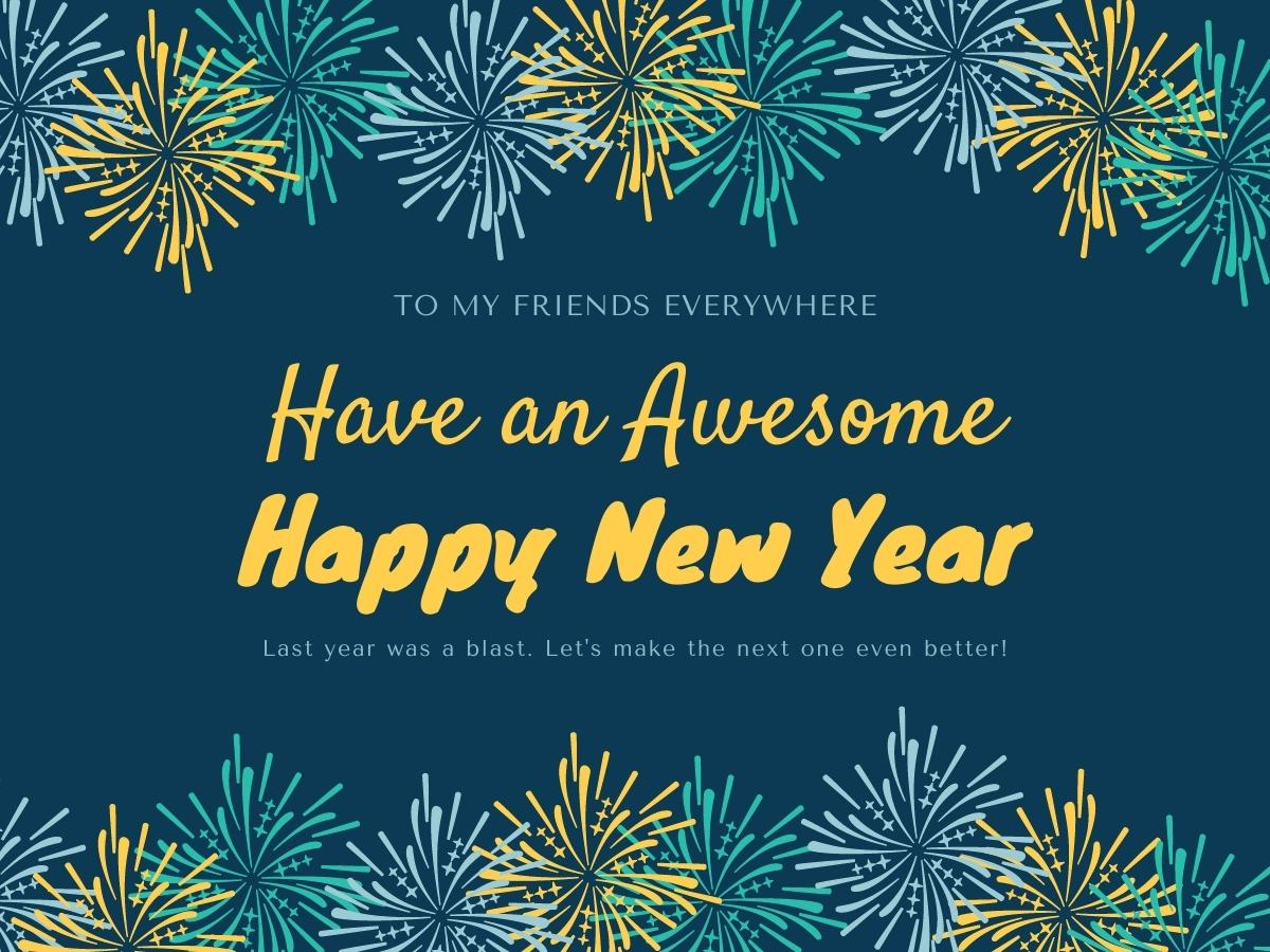 Happy New Year Wishes for Customer