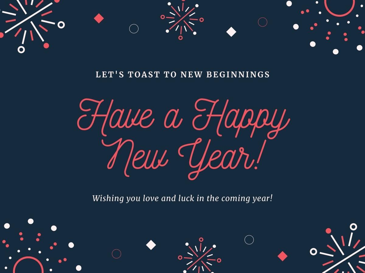 Romantic Happy New Year Wishes