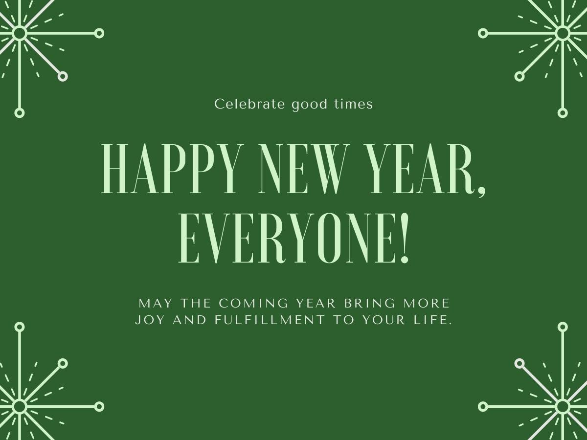 New Year Wishes for Colleagues